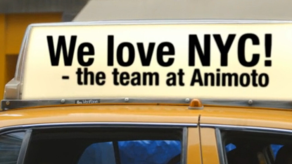 Animoto celebrates its fifth birthday with 6 million registered users and new 'I Love NY' video style