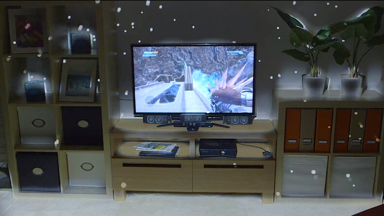 Microsoft Research's IllumiRoom puts 3D to shame, literally projects images into your living room
