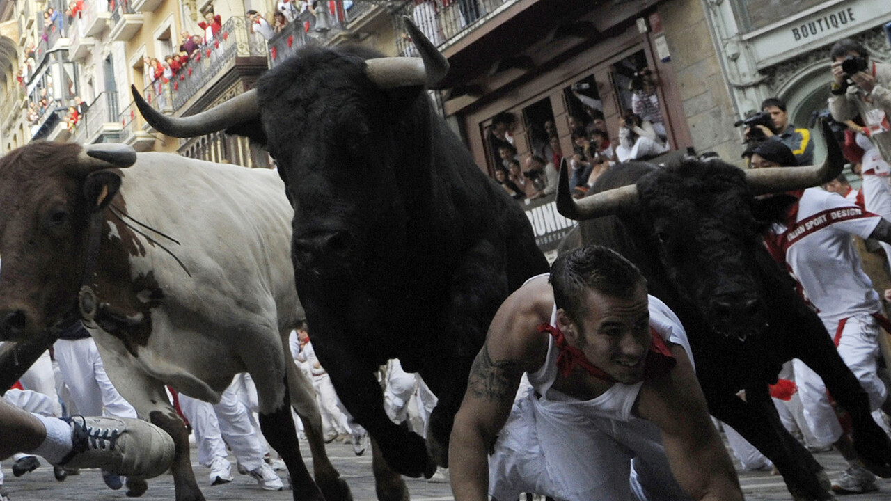Zynga releases Running with Friends where players can flee the Pamplona Bulls of Spain
