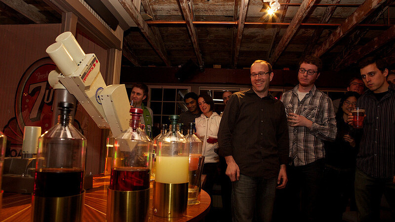 Sir Mix-a-Bot: This bartender robot arm will serve you drinks all night long