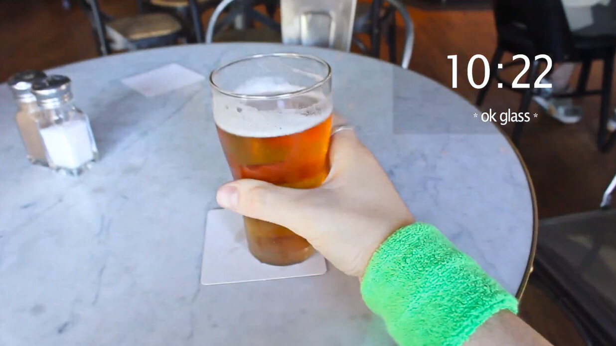 This is what happens when you combine Google Glass with a belligerent drunk on St. Patrick's Day