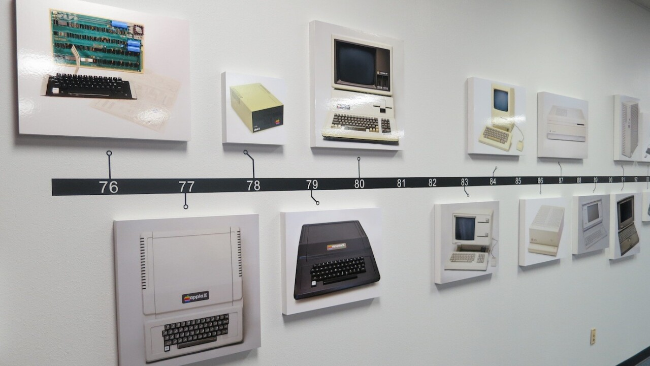 A preview of the Apple Pop-Up Museum, 6,000 sq. ft of company history and hardware