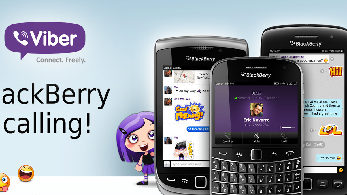 Viber finally gives BlackBerry OS5 and OS7 users a voice (free voice calls, that is)