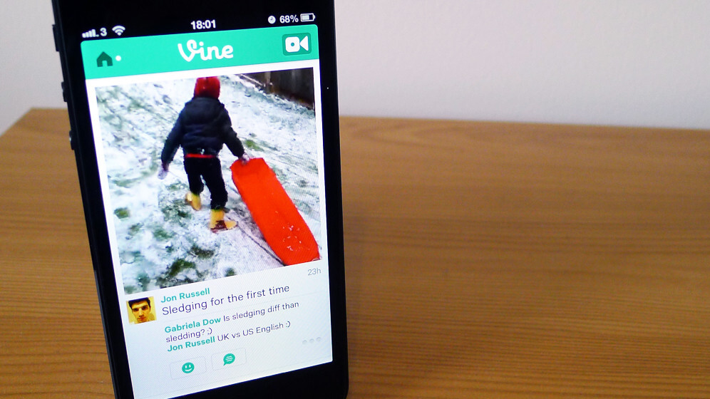 Twitter updates Vine for iOS so you can shoot with the front-facing camera and mention users in posts