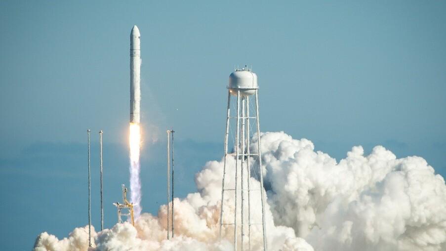 Orbital Sciences' Antares rocket blasts off on its maiden voyage