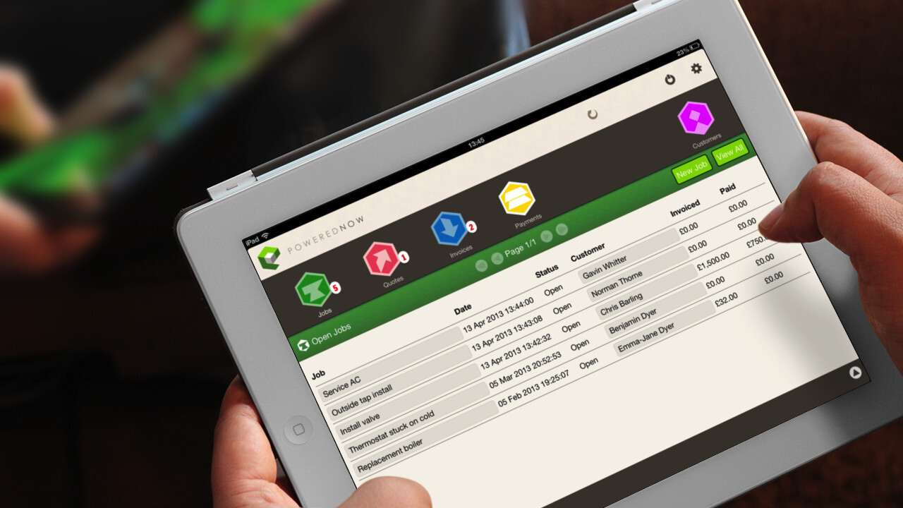 Powered Now launches a business admin iPad app for tradesmen, announces Android beta