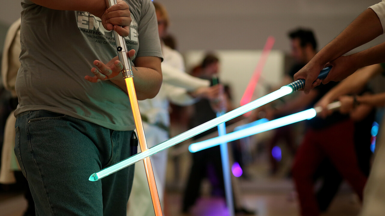 Watch this homemade 'lightsaber' quickly burn through everything put in front of it