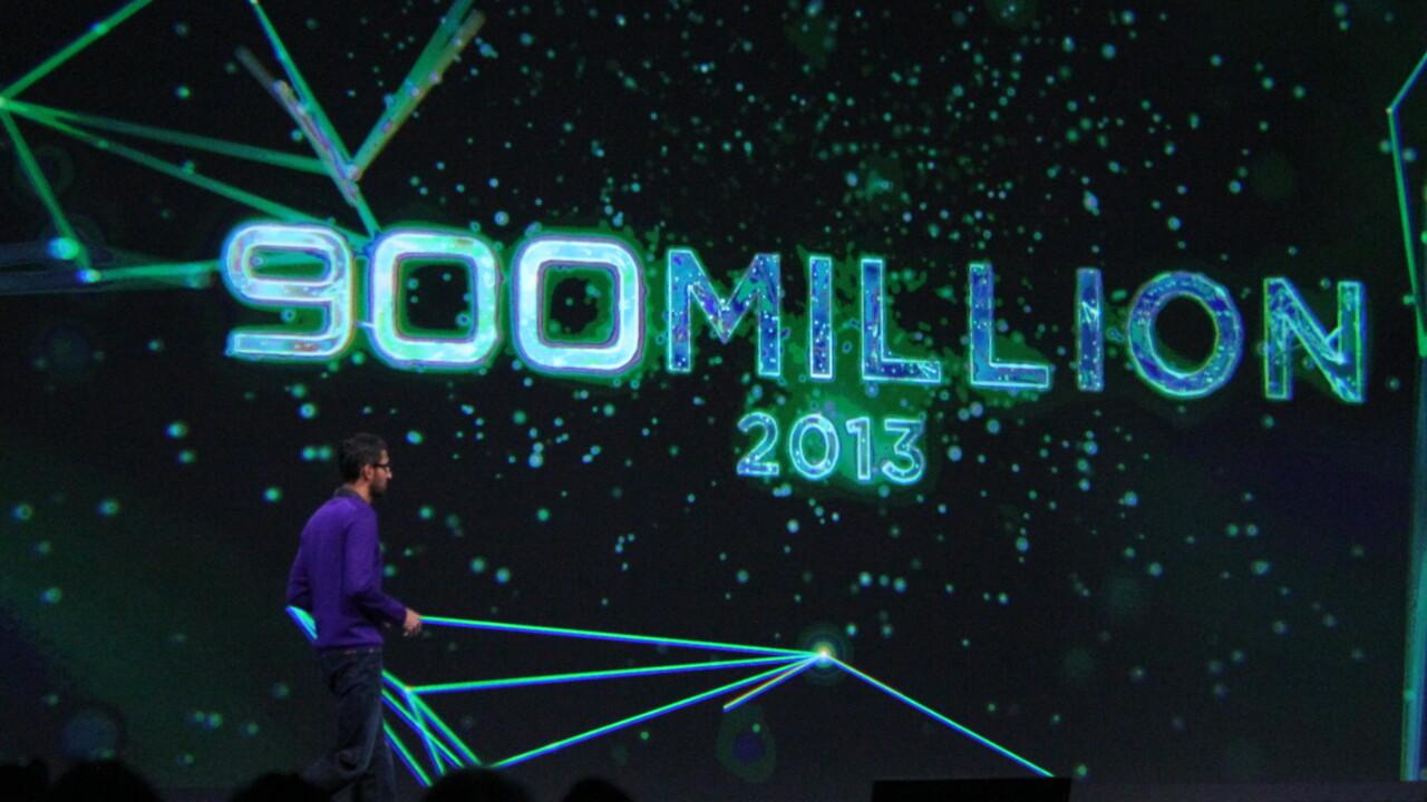 Google announces 900 million Android activations, 48 billion apps downloaded