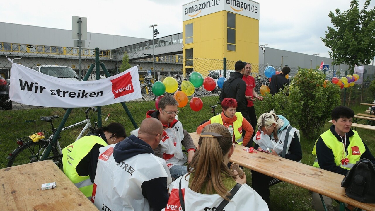 German Amazon workers stage third one-day strike for higher wages and benefits