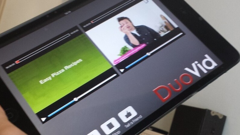 DuoVid for iOS lets you play two videos side-by-side from your library or YouTube