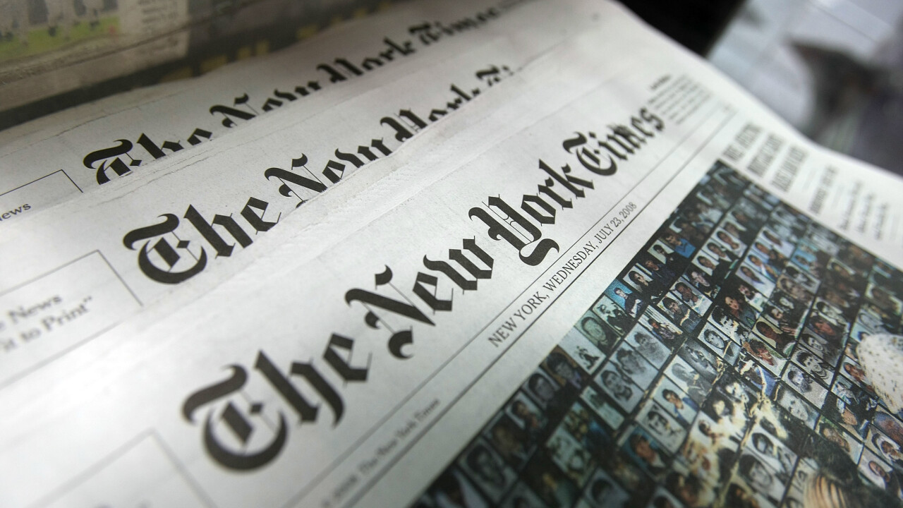 The New York Times website is offline for some due to alleged 'external attack'