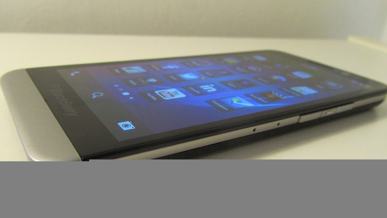 BlackBerry's new Z30 flagship smartphone: Hands-on first impressions