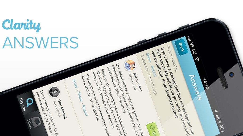 Clarity unveils Quora-like Answers service to help entrepreneurs get business advice fast