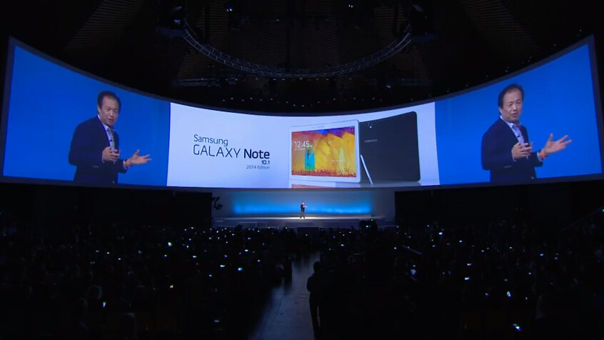 Samsung announces Galaxy Note 10.1 2014 Edition tablet