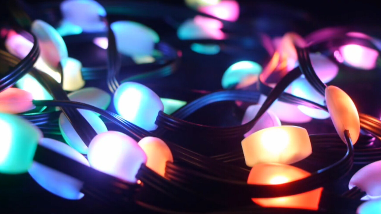 What geek could resist these smart Christmas lights?