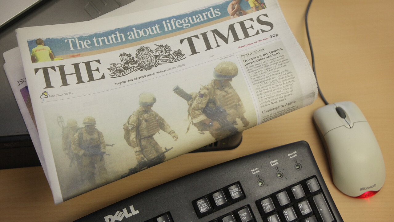 News Corp-owned The Times newspaper pulling BlackBerry apps from market due to 'lack of interest'