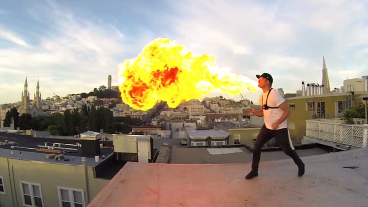 24 GoPros + Fire Breathing = Scorchingly Cool (Video)