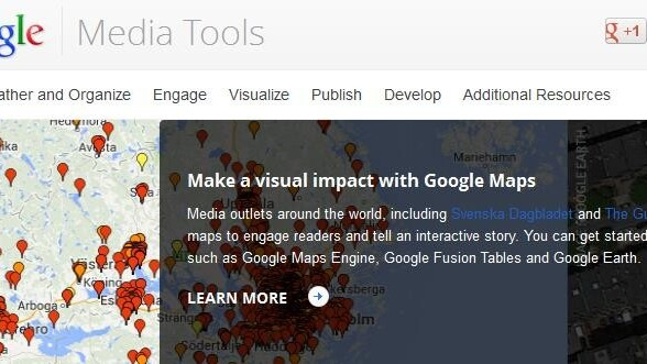 Google guides journalists to its digital resources with new Google Media Tools hub