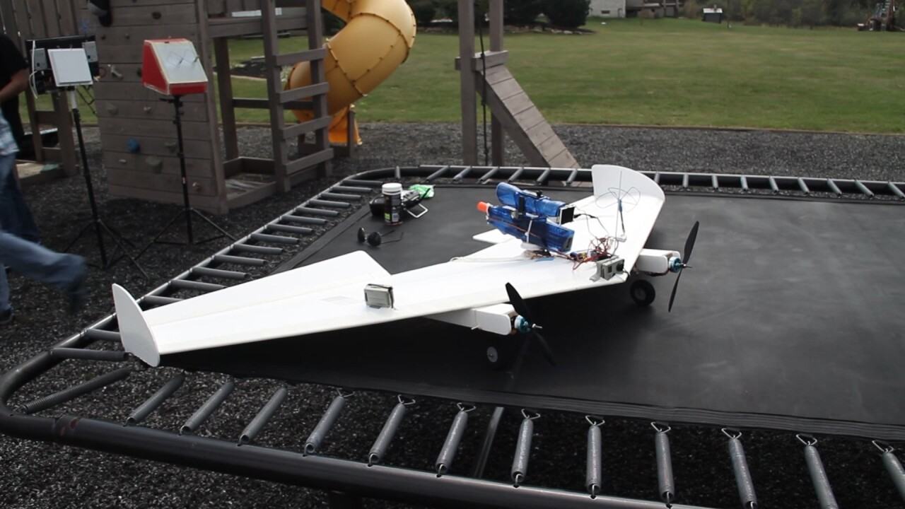These guys strapped an airsoft gun to a remote-controlled plane and went to war
