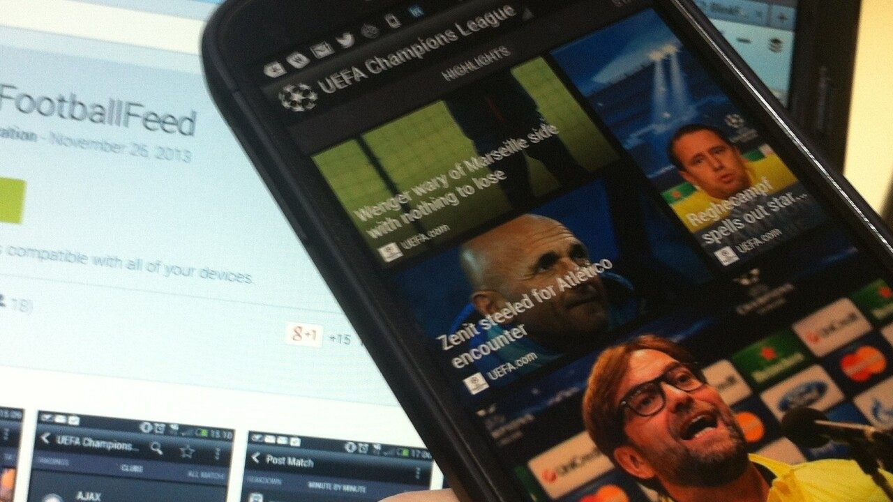 HTC launches Android app for real-time updates from the Champions League and Europa League