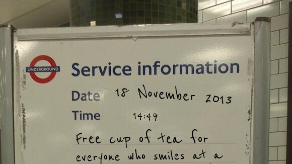 Create your own fake London Underground service information signs with this simple app