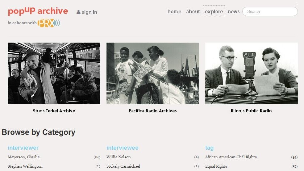 PopUp Archive serves up thousands of hours of 'lost' radio broadcasts