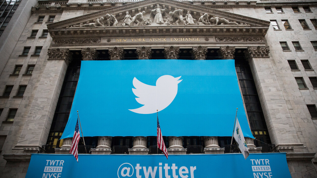 Twitter just became a public company, opened at $45.10 on the NYSE
