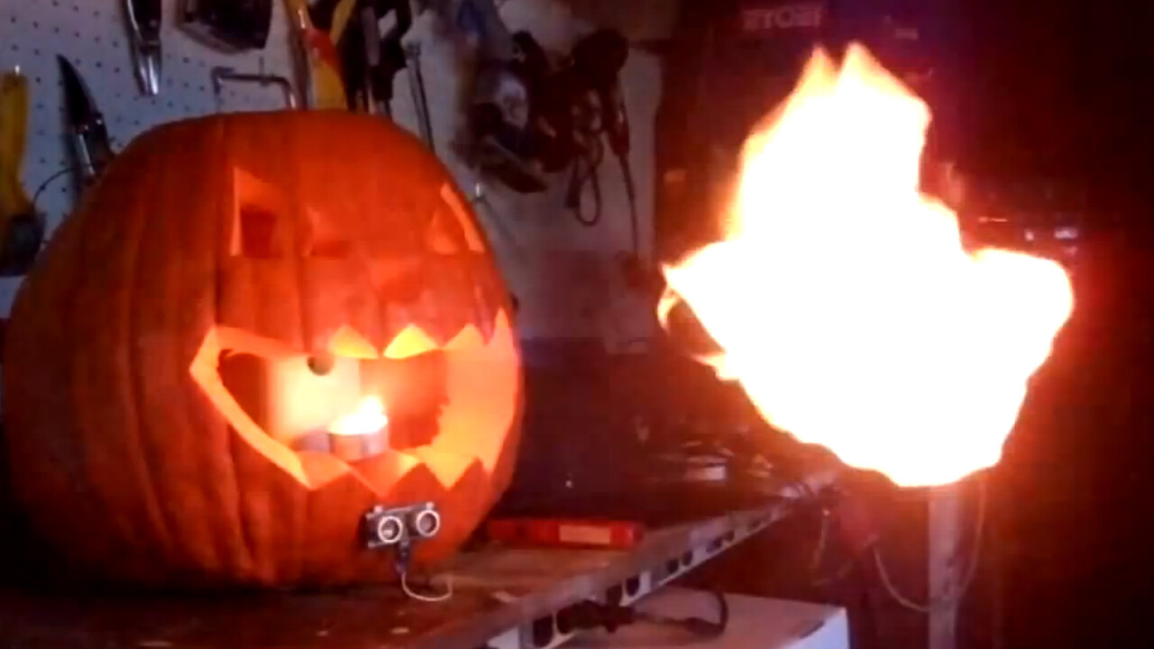 Here's how you can build a fire breathing Jack-O-Lantern with an Arduino and a Glade sprayer