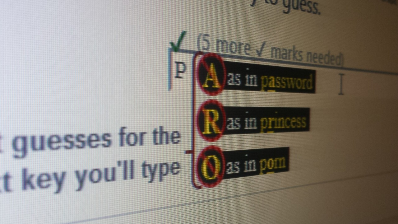 Telepathwords: This tool from Microsoft tells you how bad your passwords are by guessing the next letter