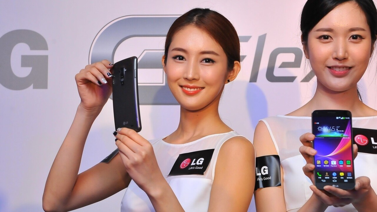 LG's G Flex is launching in Hong Kong and Singapore, its first markets outside Korea