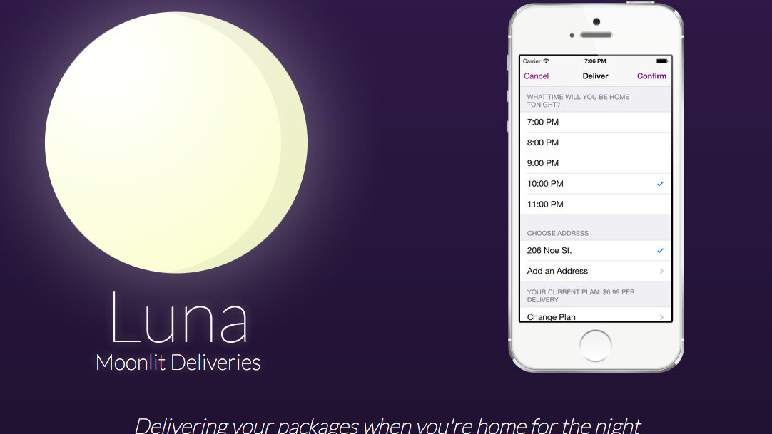 Luna's late-night delivery service ships your packages when you're actually home