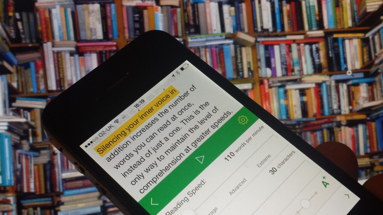 Outread for iOS highlights text to help speed your way through your reading list
