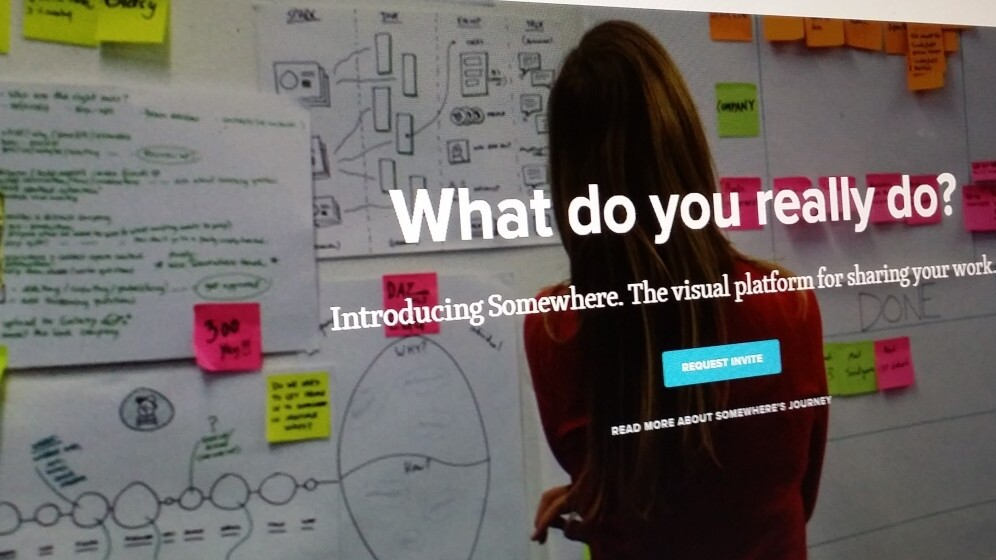 Somewhere is a new visual platform for showing off your work and skills