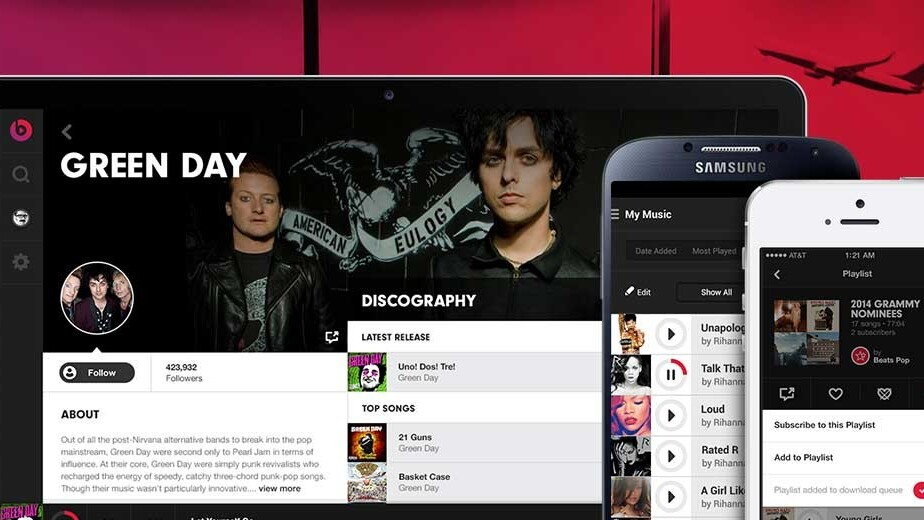 Beats Music streaming service launching on January 21 for $10 per month