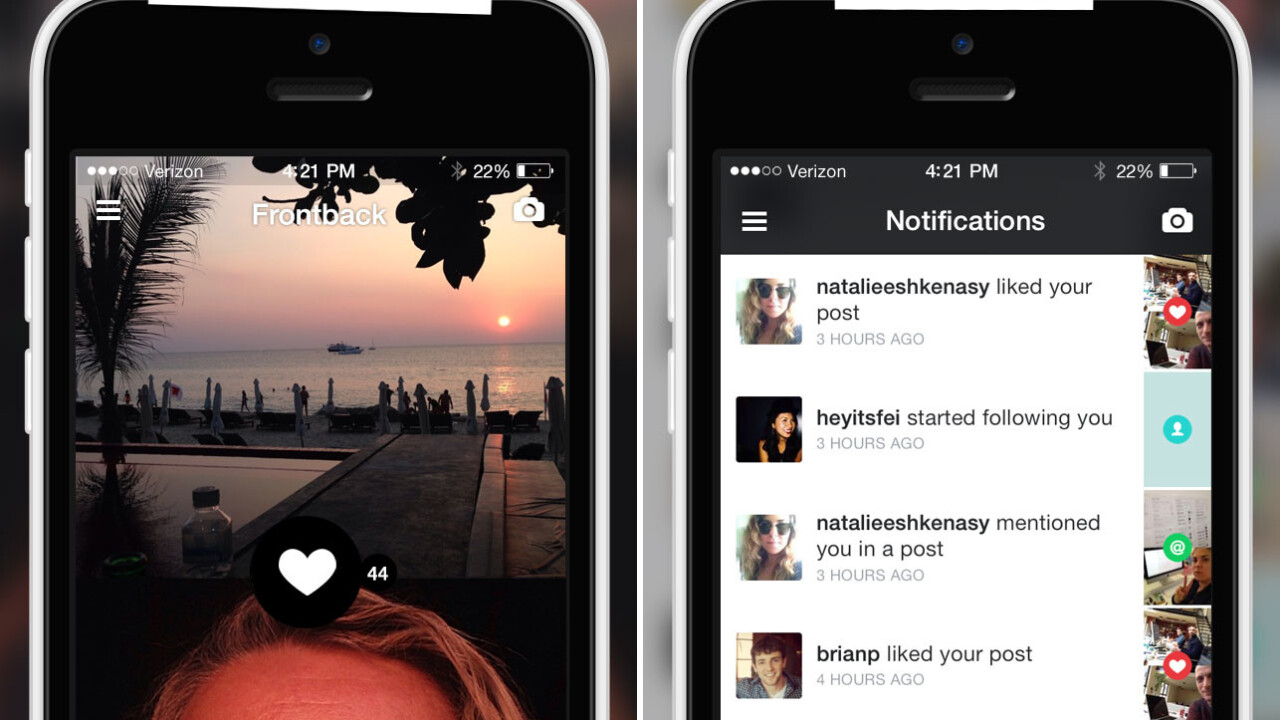 Dual-camera photo app Frontback will shut down on August 15