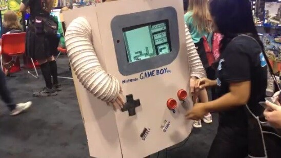 Playable Game Boy costume turns you into a playable game boy