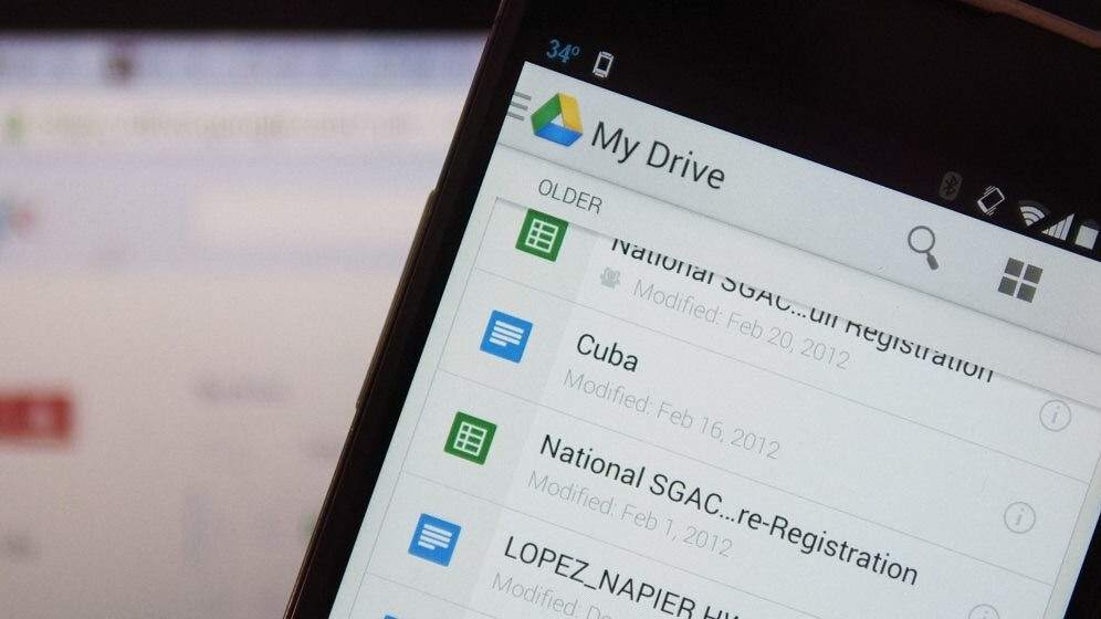 Google Drive for Android gets Material Design and updated search, sharing and PDF tools
