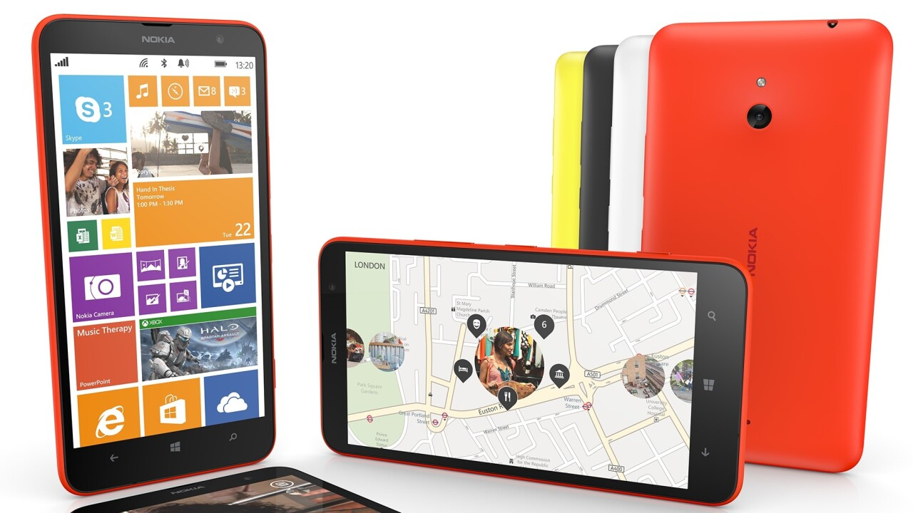 The Nokia Lumia 1320 hits the UK via EE, Virgin Mobile and Carphone Warehouse on Feb 24