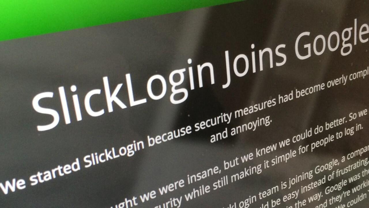 Google acqui-hires 'sounds as passwords' startup SlickLogin
