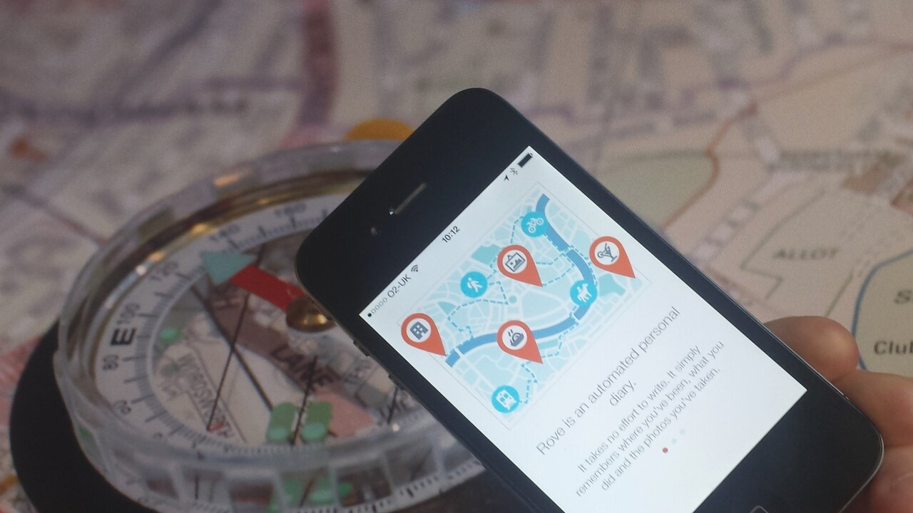 Rove's stylish location-based diary app now lets you save specific memories from your lifelog