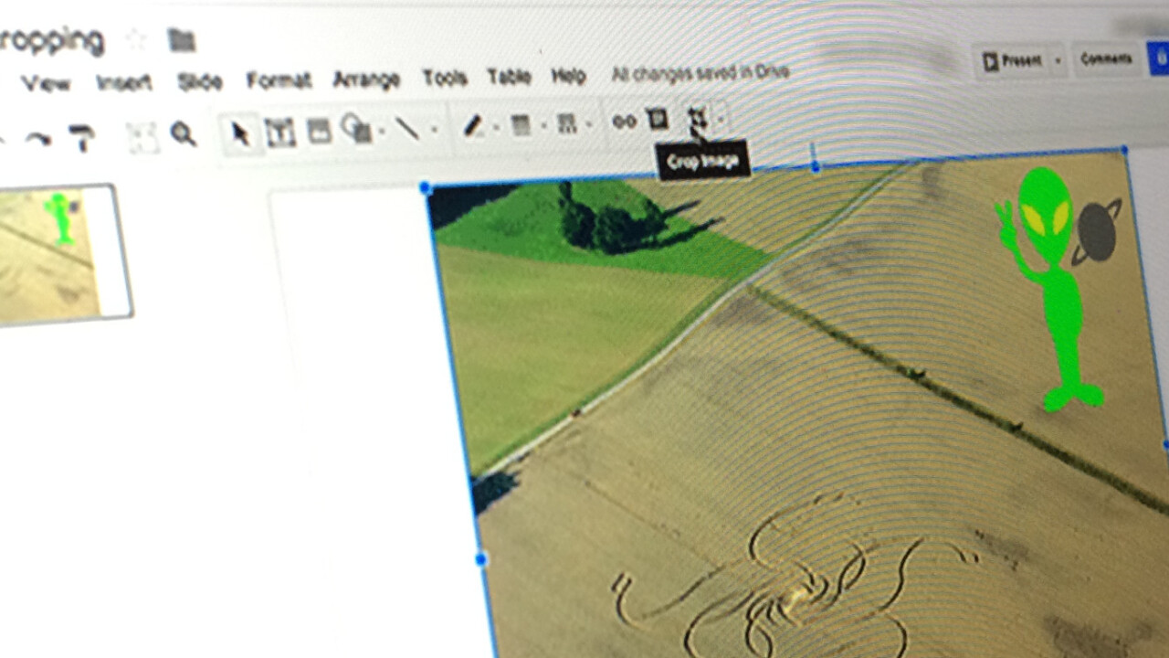 Google Slides and Drawings now have basic image-editing tools built in