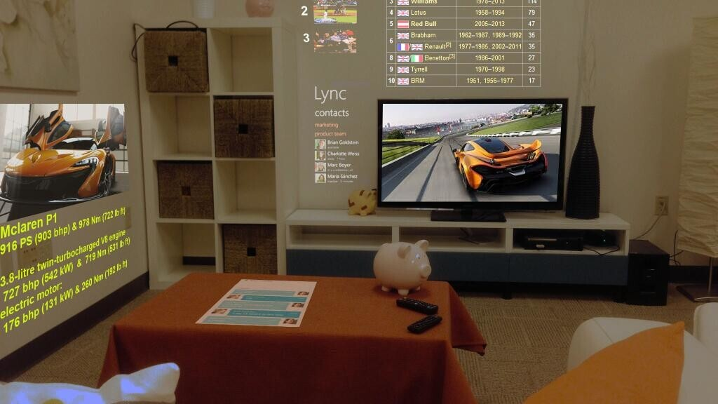 Microsoft Research reveals 3D browser SurroundWeb that displays content across multiple surfaces in a room
