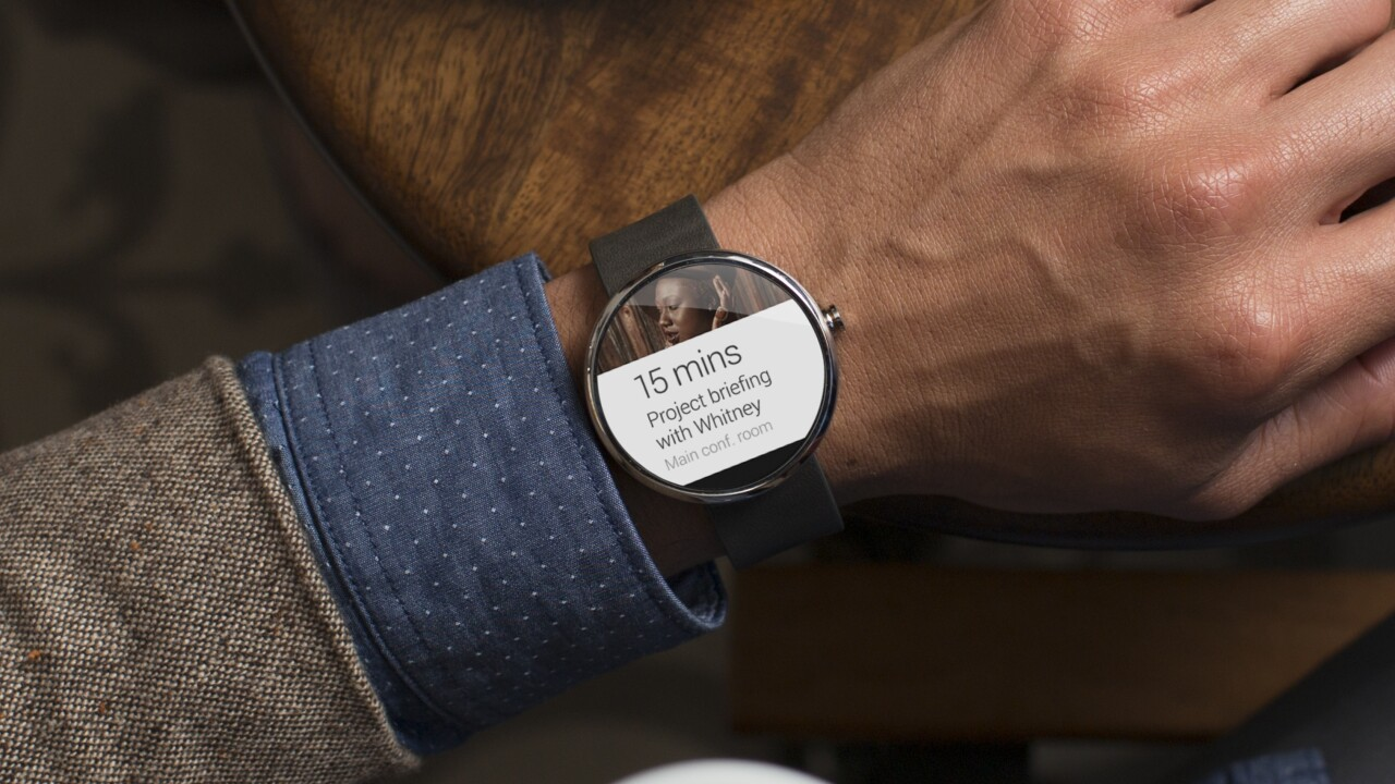 Motorola unveils the Moto 360, its first smartwatch running Google's new Android Wear platform