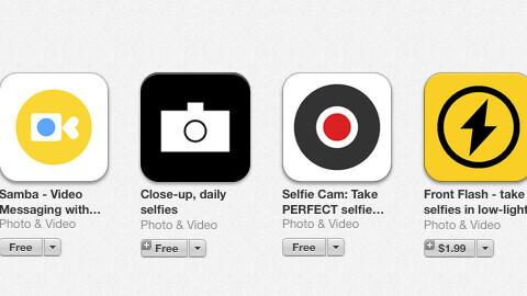 Apple's iOS App Store spotlights the selfie