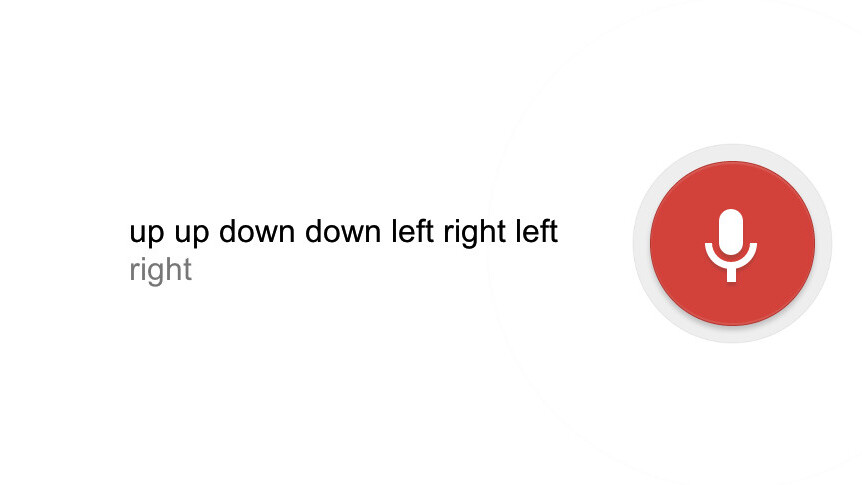 Google Voice Search now lets you enter the Konami Code for 'unlimited free searches'