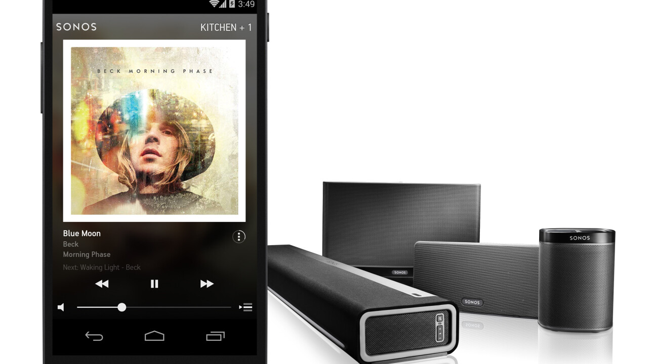 Sonos adds support for Google Play Music with direct playback from Google's Android app