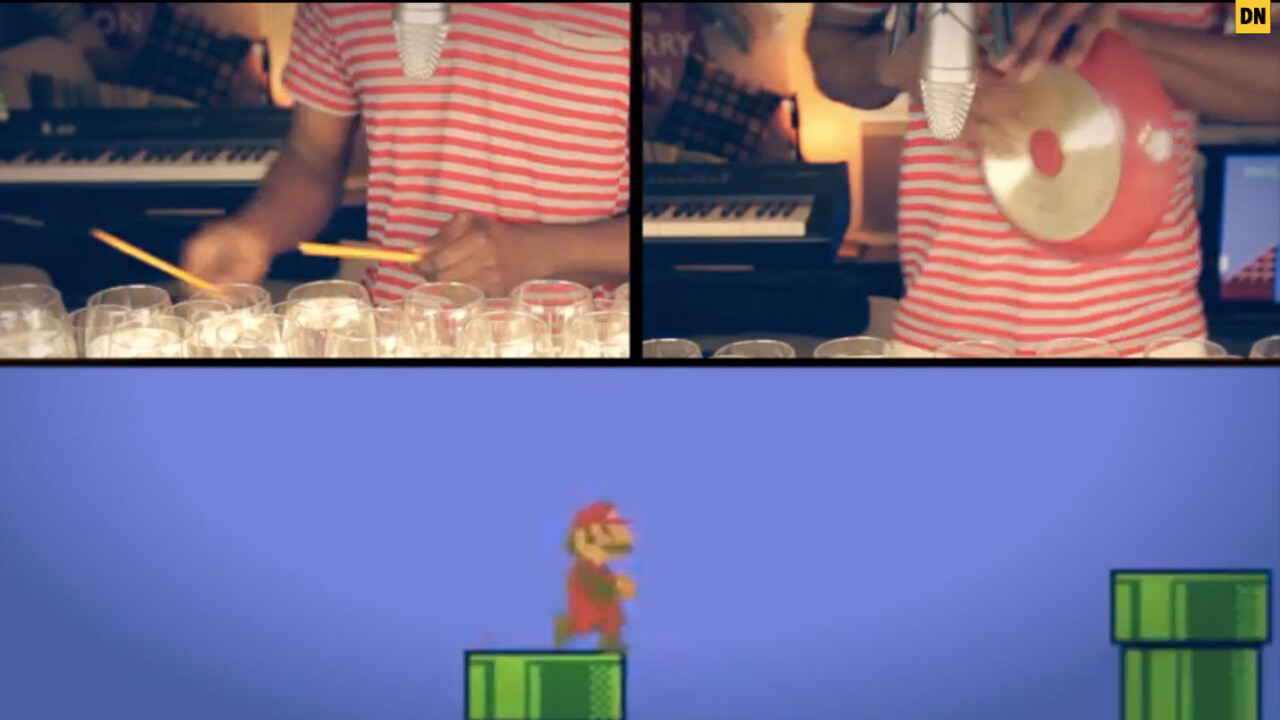 Super Mario Bros. theme played on 48 wine glasses makes you forget your princess is in another castle