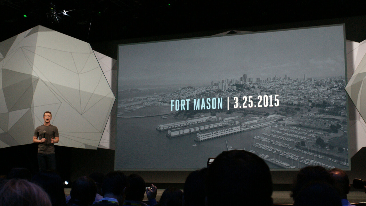 The next Facebook F8 will take place on March 25, 2015 at Fort Mason, San Francisco