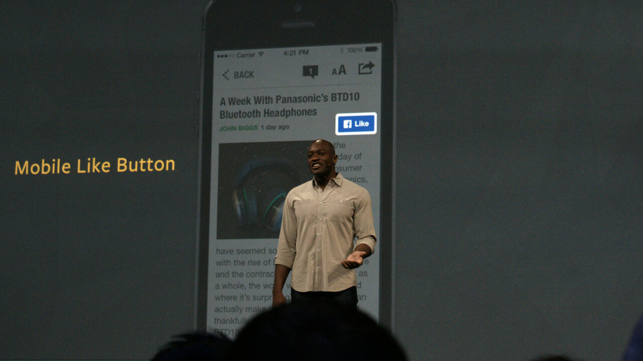 Facebook introduces a mobile Like button for third-party apps