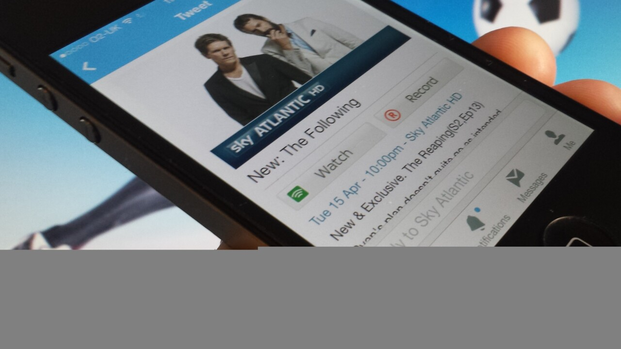BSkyB now lets you watch and record TV by clicking a tweet